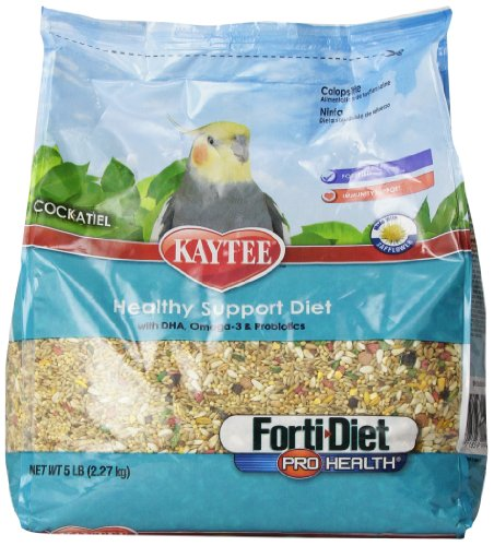 Kaytee Forti Diet Pro Health Food With Safflower For Cockatiels, 5-Pound Bag