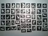 Giant set x 400 tattoo stencils for glitter tattoos / body art girls & boys