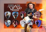 Steve Vai Guitar Pick Display - Premium Celluloid Tribute Set
