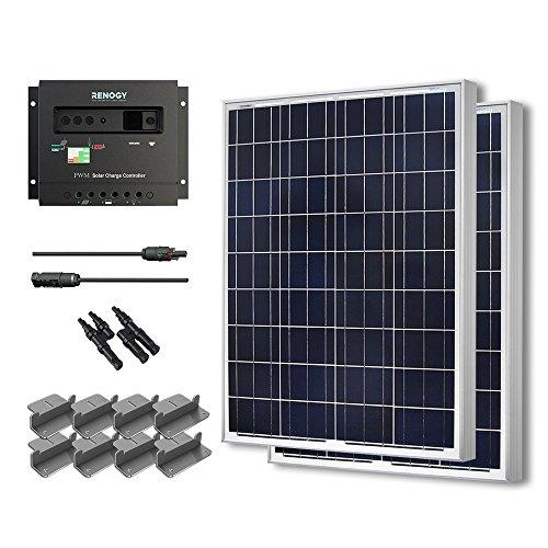 Starter Kit 200W Poly: 2pc 100W Poly Solar Panel