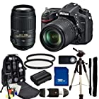 Nikon D7100 DSLR Camera Kit with 18-105mm f/3.5-5.6G VR & 55-300mm f/4.5-5.6G VR Lenses. Includes: 2 High Definition UV Filters, 32GB Memory Card, High Speed Card Reader, Extended Life Replacement Batteries, Full Size Tripod, Monopod, Deluxe Backpack & More
