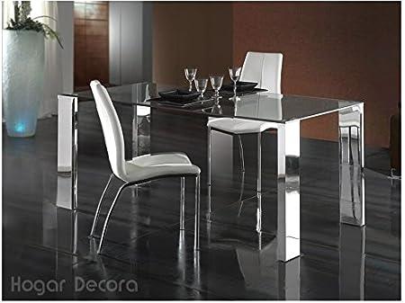 Hogar Decora Mali Table de salle à manger en acier