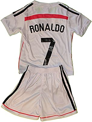 2014/2015 Cristiano Ronaldo 7 Home Real Madrid Football Soccer Kids Jersey & Short (10-11 YEARS)