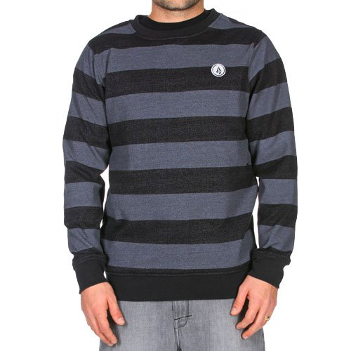 Volcom Men's EDS Slim Crew Neck Sweatshirt - Black (M)