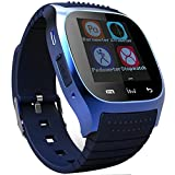 EFOSHM® SAFE X-007 Smart Wireless Bluetooth Watch Bracelet Camera Remote Control Anti-lost Pedometer Altimeter Stop-watch Power Save Phonebook Dialer Sports Calls Messages Reminder for for Men Man Men Man Andriod Samsung Galaxy S6 S5 S4 S3, Note 4 3 2, Ta