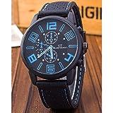 選べる 6 色 GT 腕時計 メンズ レディース アナログ 表示 シリコン ラバー バンド スポーツ アウトドア カジュアル 男性 女性 ウォッチ 腕 時計 (ブルー) 162