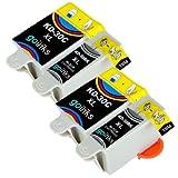 2 Compatible Sets of Black & Colour Printer Ink Cartridges to replace Kodak 30 XL (4 Inks) for Kodak ESP 1.2, 3.2, 3.2S, C110, C310, C315, Office 2170, 2170 & Hero 3.1, 5.1