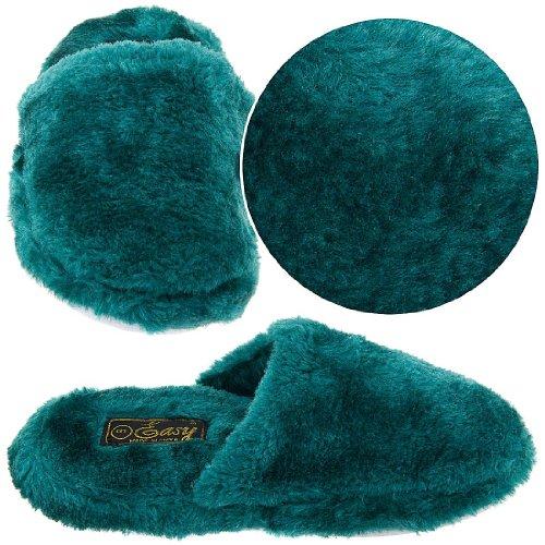 Cheap Hunter Green Slip On Slippers for Women (B00415DTSA)