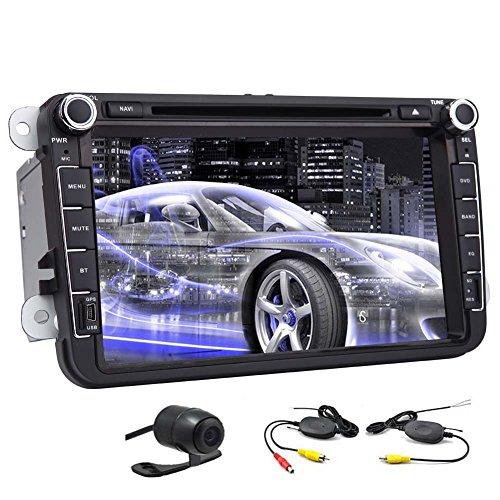 Autoradio per il VW Volkswagen Jetta Passat Ricevitore Player In-Dash doppio Din 8 pollici motorizzato Autoradio DVD Player Touchscreen DVD / CD / USB / SD / MP4 / MP3 con Canbus