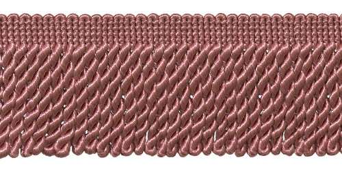 2.5 Inch Bullion Fringe Trim, Style# EF25 Color: LIGHT ROSE - K13, Sold By the Yard