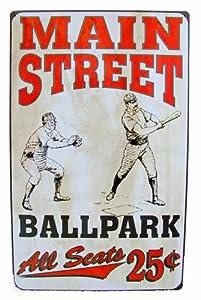 Vintage Advertising Tin Sign Baseball Reproduction Man Cave Decor