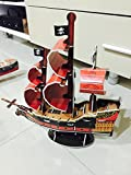 Model 3-D Puzzle Pirate Ship Children DIY Gift Educational Toy Boy Girl