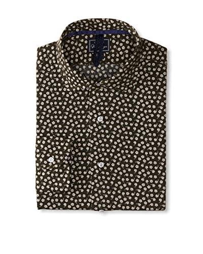 Orian Men's Regular Fit Pattern Poplin Sportshirt