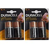 Duracell Alkaline Battery C2 Pack Of 2 (4 Cell)