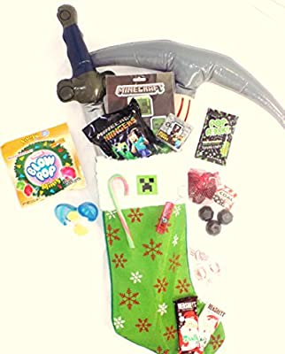Minecraft Themed Candy and Toy Stuffed Stocking Gift from Over the Moon