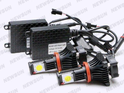 Newsun High Power 50W Oem Xenon White 5000K H11 Led Headlight For Car Cree Cxa1512 Chips H11 Led Headlamp Bulbs 1800Lm Super Bright