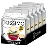 Bosch Tassimo 'Jacobs Caffe Crema Classico' 16 T Disc Coffee Machine Capsules (Pack of 5)
