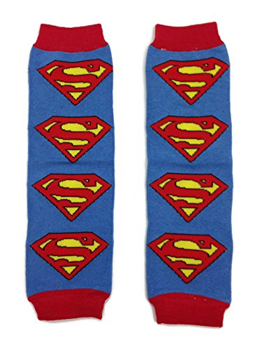 Rush Dance Super Hero to Save The Day Baby/ Toddler Leg Warmers (One Size, Red & Blue (Superman))