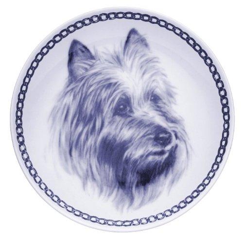 デンマーク製 ドッグ・プレート (犬の絵皿) - V (オーストラリアン・テリア  3)
