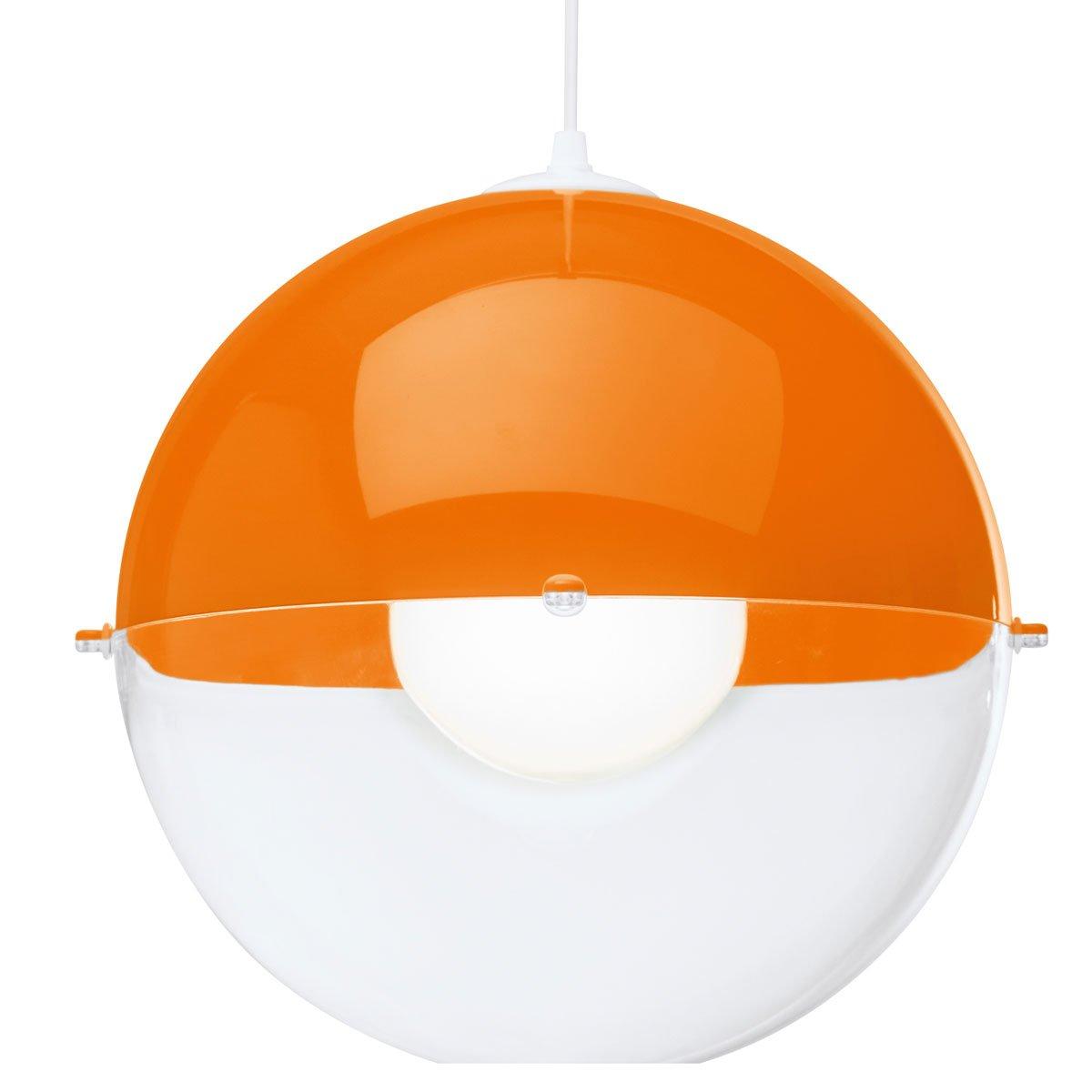 Koziol Pendelleuchte Orion Solid, orange / transparent 1911118   Kundenbewertungen
