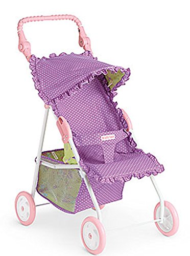 American Girl Bitty Baby Stroller Polka-Dot Purple