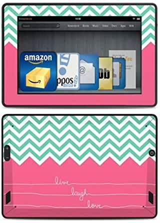 DecalGirl Kindle Fire HD Skin Kit (3rd Generation - 2013 release), Live Laugh Love
