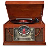 Crosley CR7008A-PA Symphony 3-Speed Turntable with CD/Cassette Player and Portable Audio Ready (Paprika)