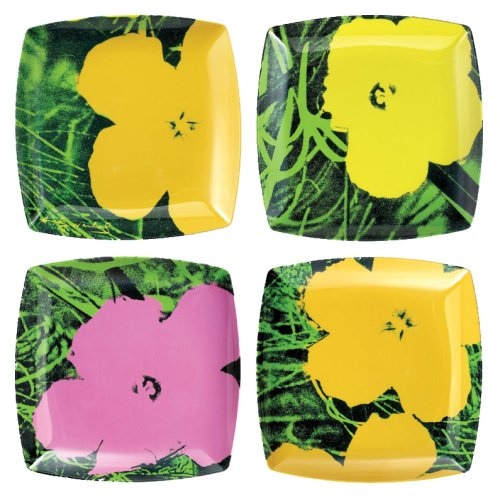Buy Precidio Objects 5744H58-AM107 Andy Warhol 1960s Flower Plates S/4