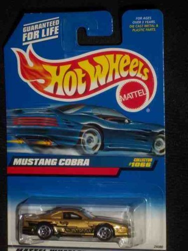 -#1066 Mustang Cobra Gold Collectible Collector Car Mattel Hot Wheels 1:64 Scale - 1