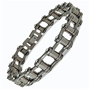 New Mens Stylish Stainless Steel Bikers Bracelet - Gift Boxed