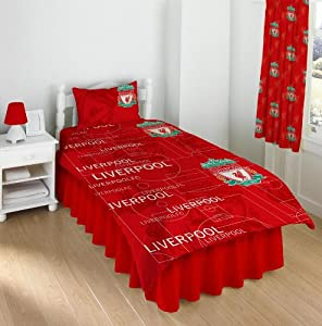 Liverpool Fc Multi Crest Single Duvet Bedding Set