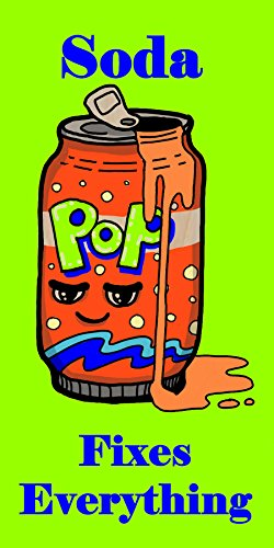 """""""Soda Fixes Everything"""" Food Humor Cartoon - Plywood Wood Print Poster Wall Art front-864911"""