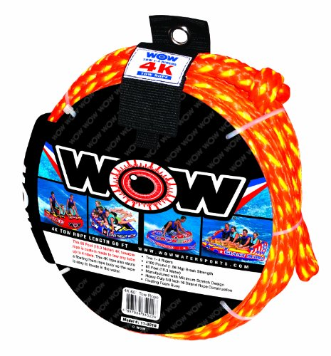 WOW Sports 4K Tow Rope, 60-Feet