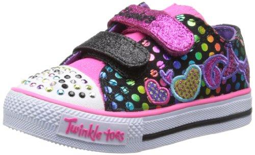 Skechers Kids 10361N Twinkle Toes Burst O Fun Sneaker,Black/Multi,9 M Us Toddler