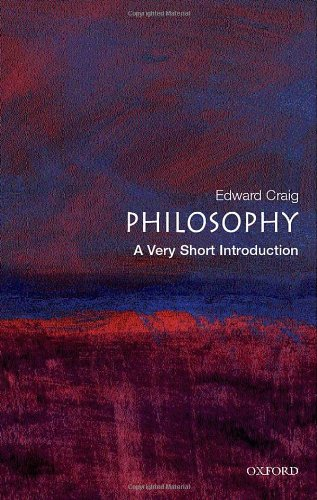 Philosophy: A Very Short Introduction: Edward Craig: 9780192854216: Amazon.com: Books