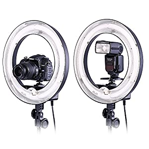Neewer® Camera Photo Video 14Outer 10Inner 400W 5500K Photographic Lamp Ring Fluorescent Flash Light