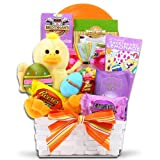 Easter Wishes Easter Basket of Chocolate's, Peeps, and Cookies