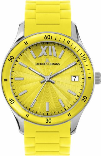 Jacques Lemans Women's 1-1623E Rome Sports Sport Analog with Silicone Strap Watch