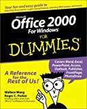 Microsoft Office 2000 for Windows For Dummies by Wang, Wallace ( Author ) ON May-07-1999, Paperback Wallace Wang