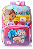 Disney Little Girls'  Doc Mcstuffins Purple Backpack with Lunch Set