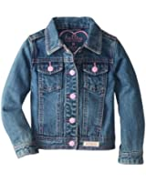 Hatley Little Girls' Jacket Classic Denim with Contrast Stitching