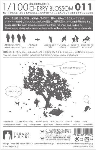 テラダモケイ 1/100建築模型用添景セット お花見編