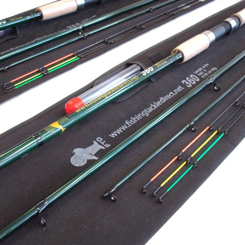2 FTD 11ft & 12ft Full Carbon FEEDER Fishing Rods, with 3 tips, capable of Float & Carp fishing