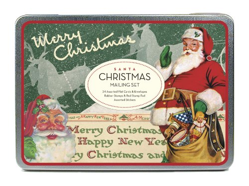 Cavallini Christmas Santa Mailing Sets, 24 Assorted