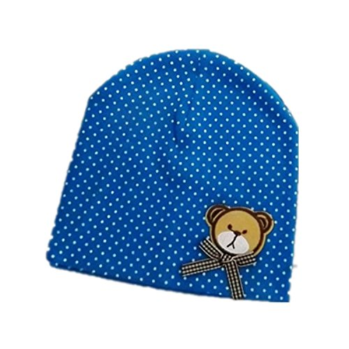 BuyHere Unisex Baby Bear Labeling Hats,Blue - 1