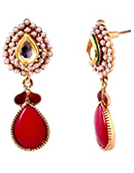Modern Styling, Red Drop Earring
