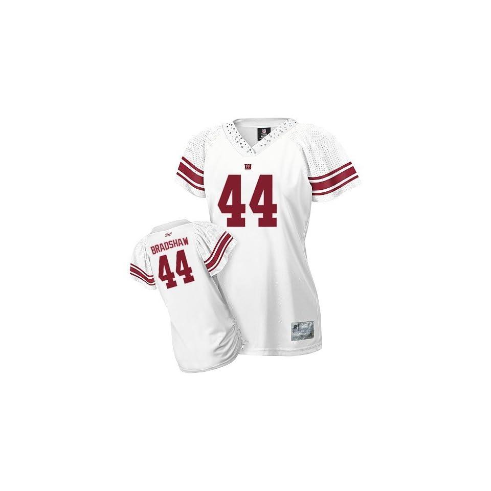 Womens Field Flirt Fashion New York Giants NFL Jerseys  44 Ahmad Bradshaw  Authentic Football WHITE Jersey Size S XXL (4days Lead time  All Sewn on ... bac4b29e1