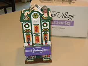 Dept 56 Snow Village Bachman's Flower Shop