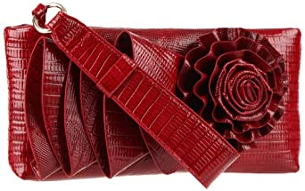 BIG BUDDHA Meredith Clutch,Red,One Size