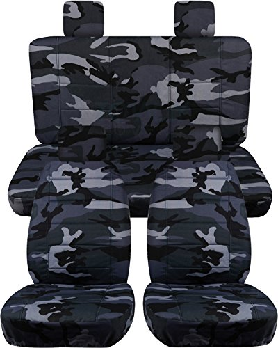 Jeep Wrangler JK (2007 to 2010) Camo Seat Covers: Gray - Full Set (19 Prints Available) (Jeep Jk Seat Covers Camo compare prices)